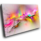 ZAB970 Retro Colourful Cool Modern Canvas Abstract Home Wall Art Picture Prints