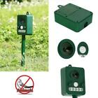 Ultrasonic Solar Cat Repeller Bird Repellent Garden Dog with white light LED
