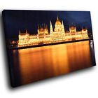 SC454 Orange Blue Building Night Landscape Canvas Wall Art Large Picture Prints