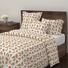Lion Tiger Cat Meow Circus Safari Zoo Sateen Duvet Cover by Roostery