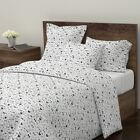 Neutral Bow Tie Hipster Fashion Illustration Sateen Duvet Cover by Roostery