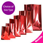 Many Sizes for Glossy Red Flat Foil Mylar Heat-Sealable Open Top Pouch Bag R05