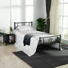 Twin Full Size Metal Bed Frame Platform Headboards Furniture Bedroom with 6 Legs