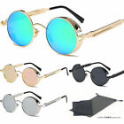 Vintage Retro Steampunk Sunglasses Inspired Round Metal Circ