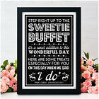 PERSONALISED Wedding Signs Sweet Table Candy Bar Sweetie Buffet Vintage Signs