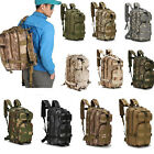 USStock Camo Hiking Camping Bag Army Tactical Trekking Rucksack Outdoor Backpack