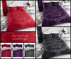 New Good Night Slogan Script Printed Duvet Quilt Cover Set Size Double King image