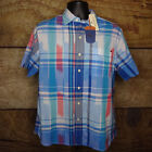 Tommy Bahama Mens Large Cant Stop Ikat Download Blue Short Sleeve Button Front