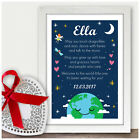 Personalised Welcome To The World Newborn Baby Boy Girl Poem Gifts Son Daughter