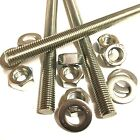 M10 A4 MARINE STAINLESS Threaded Bar + FULL NUTS + WASHERS - Rod Studding 10mm