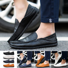 Summer Men Driving Casual Boat Shoes PU Shoes Moccasin Slip On Loafers