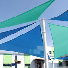 Standard Size Triangle Curve Sun Shade Sail Home Garden Pool Patio Cover Canopy