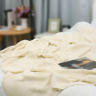 """100% Cotton Soft Warm Knit Throw Decorative Blanket for Couch Sofa 50"""" x 60"""""""
