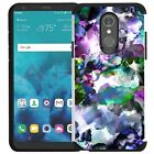 For LG Stylo 4 Case Shockproof Dual Layer Phone Cover Marble Stone Design