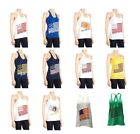 NWT NCAA E5 College Team Multi Color Flag Racer Tank Top Sz S-M-L-XL RM
