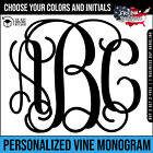 ~ Custom Vinyl Vine Monogram Personalized Initials Decal Sti