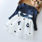 US Flower Girls Princess Dress Kids Baby Party Pageant Bow Tulle Tutu Dresses YG