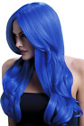 Fever Khloe Wig, Neon Blue, Long Wave with Centre Parting, 6 (UK IMPORT)  AC NEW