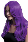 Fever Khloe Wig, Neon Purple, Long Wave with Centre Parting, (UK IMPORT)  AC NEW