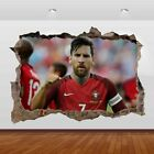 Lionel Messi Argentine Barcelona 3d Smashed Wall View Sticker Poster Vinyl 862