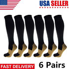 Kyпить (6 Pairs) Copper Compression Socks 20-30mmHg Graduated Support Mens Womens S-XXL на еВаy.соm