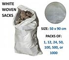 50x90cm WOVEN LARGE EXTRA HEAVY DUTY RUBBLE SAND BAG SACKS POLYPROPYLENE BUILDER