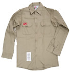 FR Flame Resistant Work Shirts Protect Cotton Men's Long Sleeve - Brand New