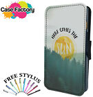 HERE COMES THE SUN POSITIVE - Leather Flip Wallet Phone Case Cover