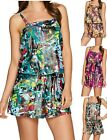 St. Tropez~Foiled Palm Station Blouson Romper Swimsuit~A274032