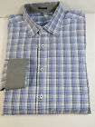 Mint! Bugatchi Uomo classic fit long sleve shirt,dry cleaned cotton size XL $155