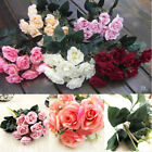 12 Heads Artifical French Rose Flowers For Wedding Bridal Bouquet Home Decor Uk