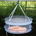 Foldable 2Layers Drying Rack Net Hanging Clothes Laundry Sweater Dryer Basket US
