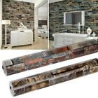 3D Realistic Rustic Rusty Sand Stacked Brick Stone Rock Roll Wallpaper OK88