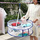 2 Layers Drying Rack Net Folding Hanging Clothes Laundry Sweater Dryer Basket ..