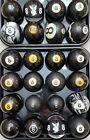 #8 Ball Pool Ball, 1500 VINTAGE & ANTIQUE BILLIARD BALLS IN STOCK Clay & Aramith $12.5 USD on eBay