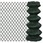 Outdoor Garden Galvanized Steel Chain Link Fence Fencing Roll 15m / 25m Green