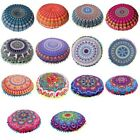 types of pillow filling -  Multi-types Round Pillow Case Mandala Geometric Meditation Floor Cushion Cases
