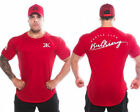 Gym Bulking T Shirt Bodybuilding Affliction Workout Fitness Mens Muscle Tee Top