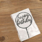 Cake Topper Card Happy Birthday Cake Decor Acrylic Party Wedding Supplies