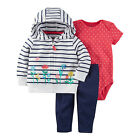 NWT Carter's Baby Girls 3-Pc Little Jacket Set Outfit Playwear New