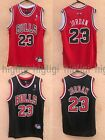 NWT Michael Jordan #23 Chicago Bulls Jersey Throwback, Stitched, Red/Black on eBay