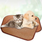 Natural Rattan Grass Woven Dog Mat Summer Pet Cooling Mat Portable Kitten Nest