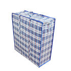 Reusable Large Jumbo plastic Shopping Laundry Moving Storage Luggage Bag Zip
