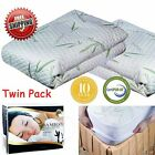 Bamboo Cotton Waterproof Mattress Cover Protector Full Queen King Hypoallergenic image