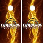 Los Angeles Chargers Cornhole Skin Wrap NFL Football Lightning Art Vinyl DR39 $59.99 USD on eBay