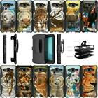 For Samsung Galaxy J1 2016|Express 3|Amp 2 Holster Dual Layer Case - Animals
