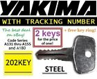 2 YAKIMA Replacement Key SKS Lock Ski Roof Rack Bicycle Cargo Carrier Snowboard