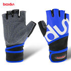 Padded Wrist Wraps Weight Lifting Training Gym Straps Support Half Finger Gloves