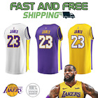 Los Angeles Lakers Lebron James 23 Jersey White Purple Gold NEW WITH TAGS