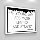 Coco Chanel Quotes Art Canvas Print Woman Quote Home Wall Decor Modern Art Sign